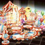 【ポケ森】サーカス風のレイアウトがすごい!どうぶつ達がサーカス団に☆