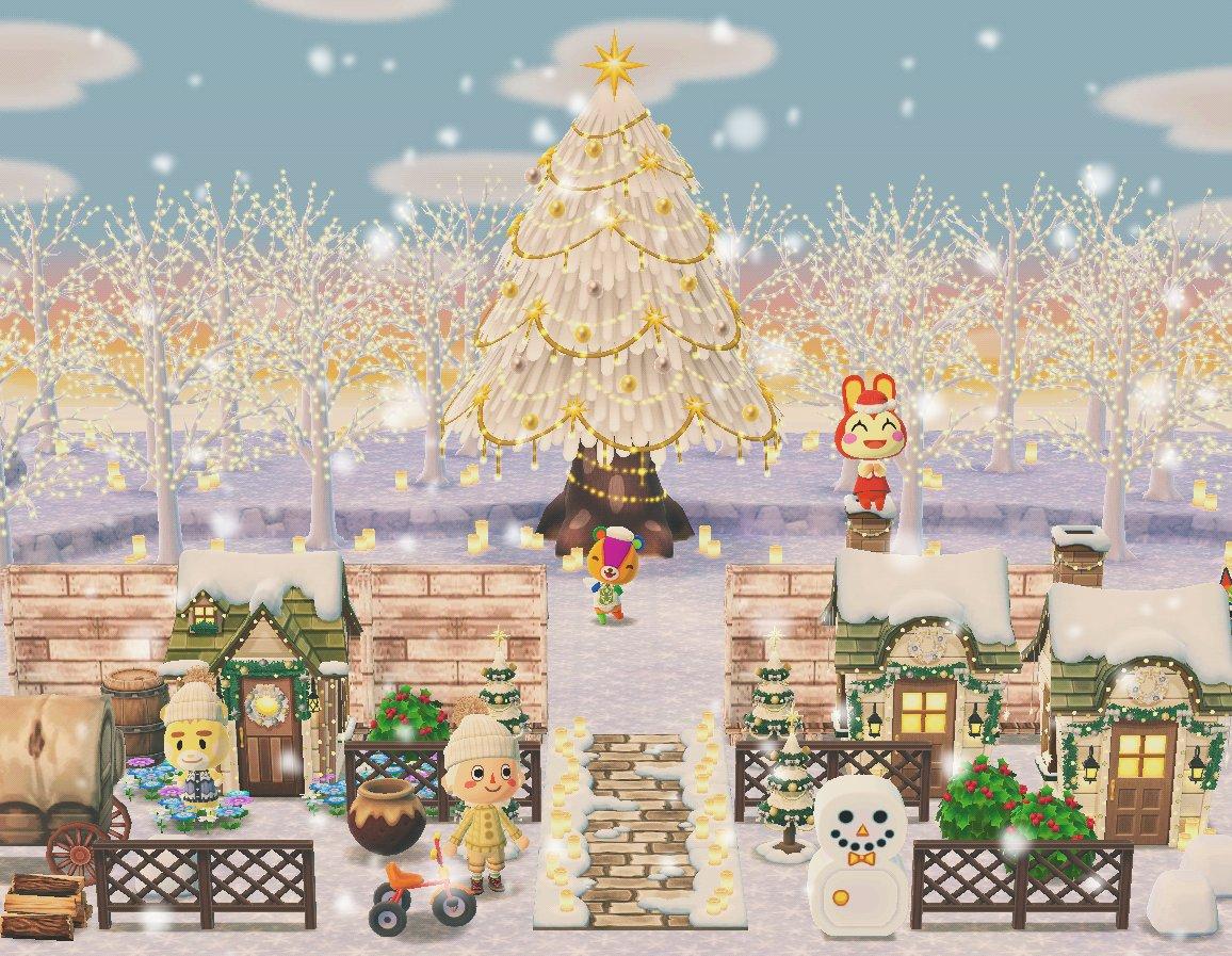 ポケ森 クリスマス風のキャンプ場 コテージレイアウトまとめ