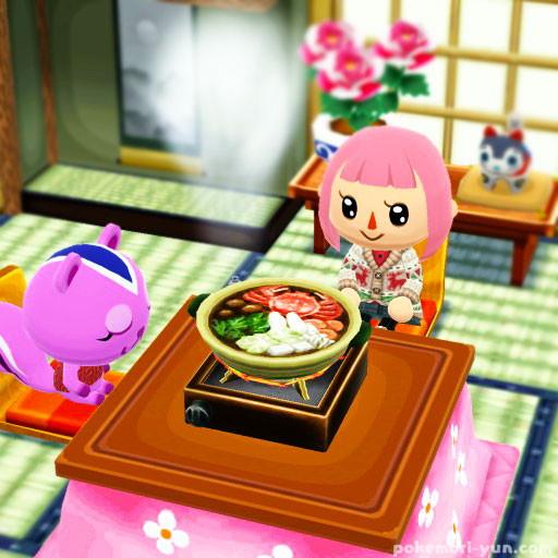 土鍋のカニ鍋を食べる