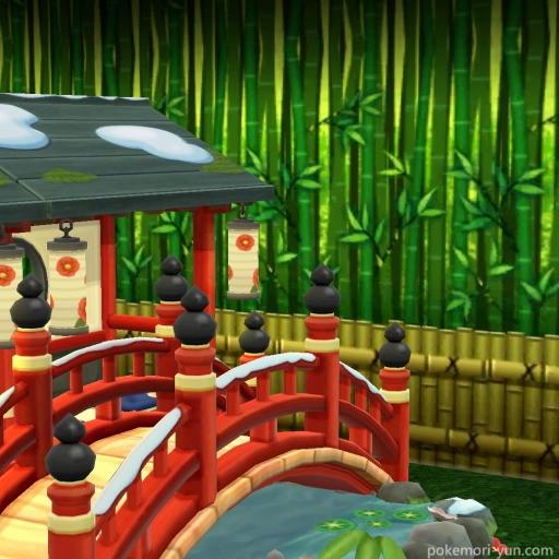 ちとせのツバキ鑑賞会を日本庭園風に飾った画像